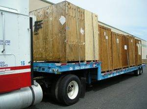moving trucks with storage crates