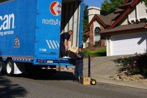 Our local moves unpack a truck in Vacaville