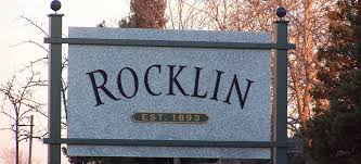sign greeting residents into Rocklin, CA