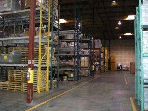 warehouse of packed electronics